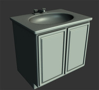3d bathroom sink model