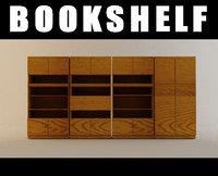 3d model bookshelf book shelf