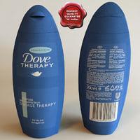 dove shampoo 3d model