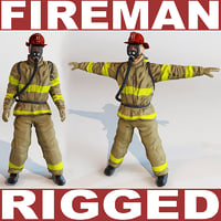 Fireman (rigged)