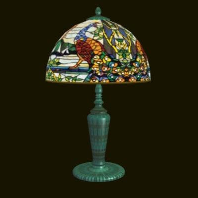 LM Peacock Lamp