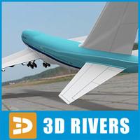 3ds b-747 passenger air aircraft
