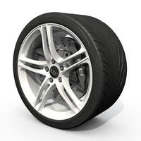 r8 wheel 3d model