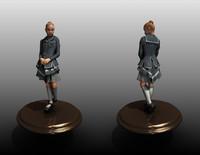 school girl 3d model