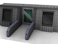 3d space door model
