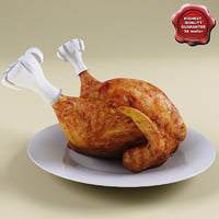 3d turkey modelled