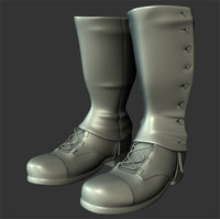 3d model ww2 soldier boots