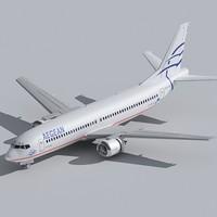 737-400 aegean 3d model