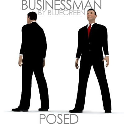 businessman posed max - Businessman Posed... by BlueGreen