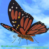 butterfly cartoon 3ds