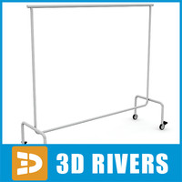 Clothes display rack 03 by 3DRivers