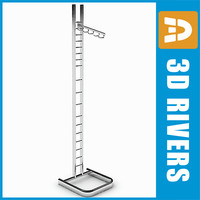 Clothes display rack 04 by 3DRivers