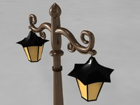 Street Lamp - High Polygon 3d model