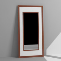 3d wall leaning mirror model
