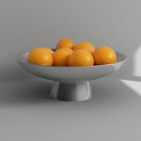 fruits bowl 3d model