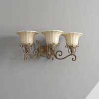 3d bathroom light model