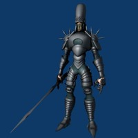 3d damned knight armor model