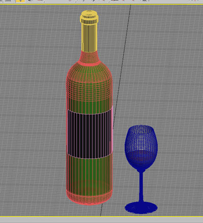 wine glass red 3d model - red wine and wineglass 02... by BARAKA