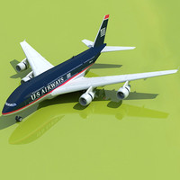 3d model airbus a380 airways