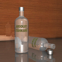 cinema4d vodka bottle