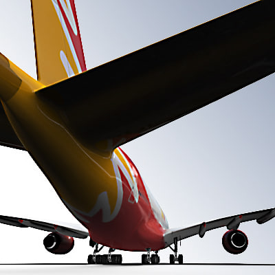 3ds red logo airbus a380 - Airbus A380 Red logo by 3DRivers... by 3DRivers