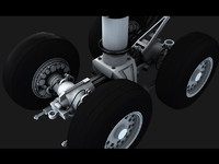 aircraft center wheels 3d obj