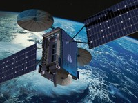 echostar communications satellite 3d model