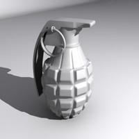 grenade pineapple 3d model