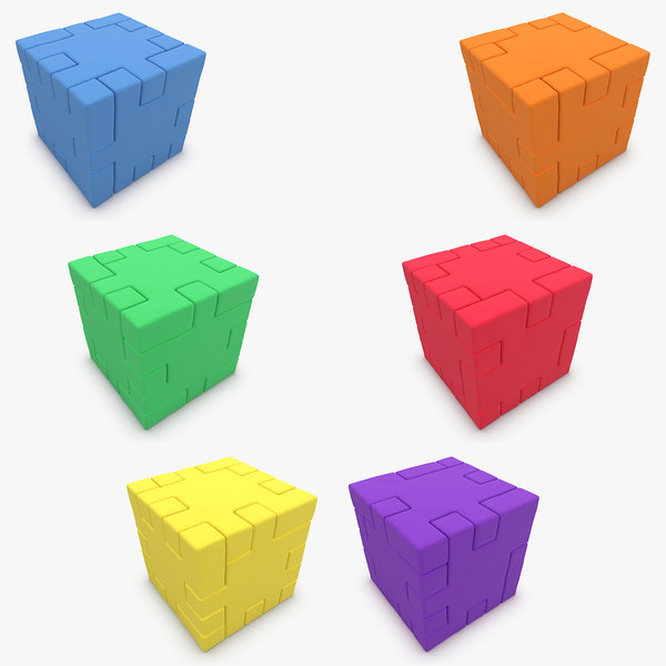 happy cube set 3d model