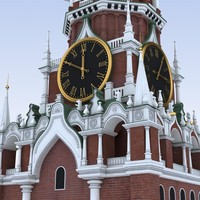 Moscow.Kremlin. Spasskaya Tower
