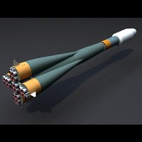 soyuz st rocket r-7 3d model