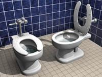 3d model toilet bowl
