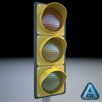 traffic signal 3d model