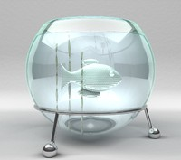 3d model fish aquarium
