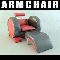 modern armchair 3d 3ds