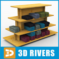 display table clothes 3d model