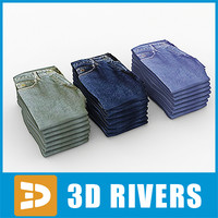 Folded jeans by 3DRivers