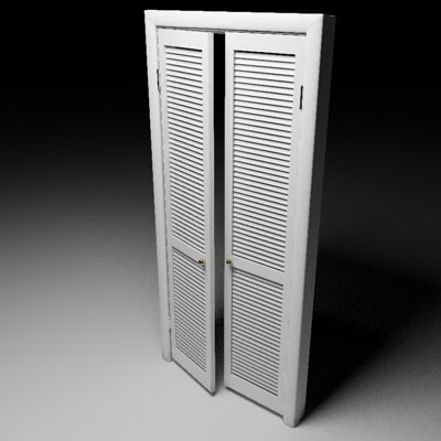 Slat 3d models for 18 inch louvered door