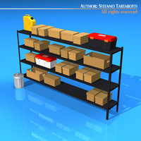 3dsmax garage shelves