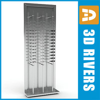 3d model glasses display rack