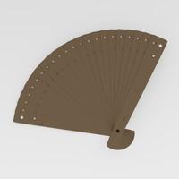 3d hand fan model