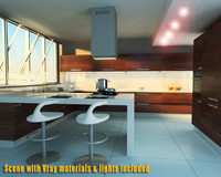 100 kitchens living rooms 3d c4d