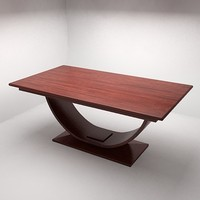 modern dining table accurately 3d model