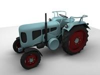 3d model vintage tractor