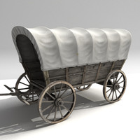 wild west style waggon 3d max