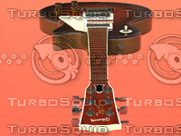 3d model sunburst les paul