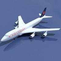 3d model b 747 air canada