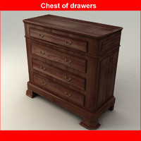 3d chest drawers model