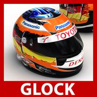 timo glock f1 helmet 3d max