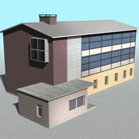 house building school office 3d model